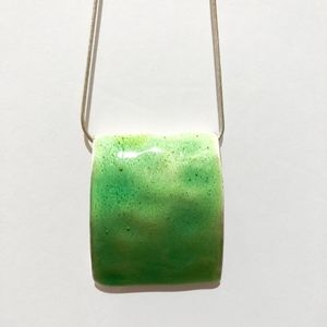 Green Statement Necklace from Express